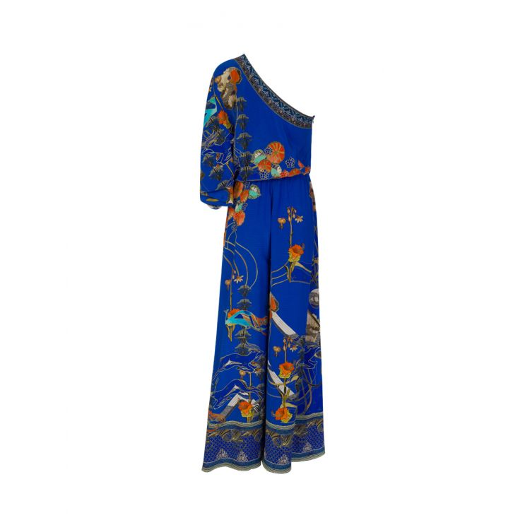 Camilla Blue Tree of Life One Shoulder Jumpsuit