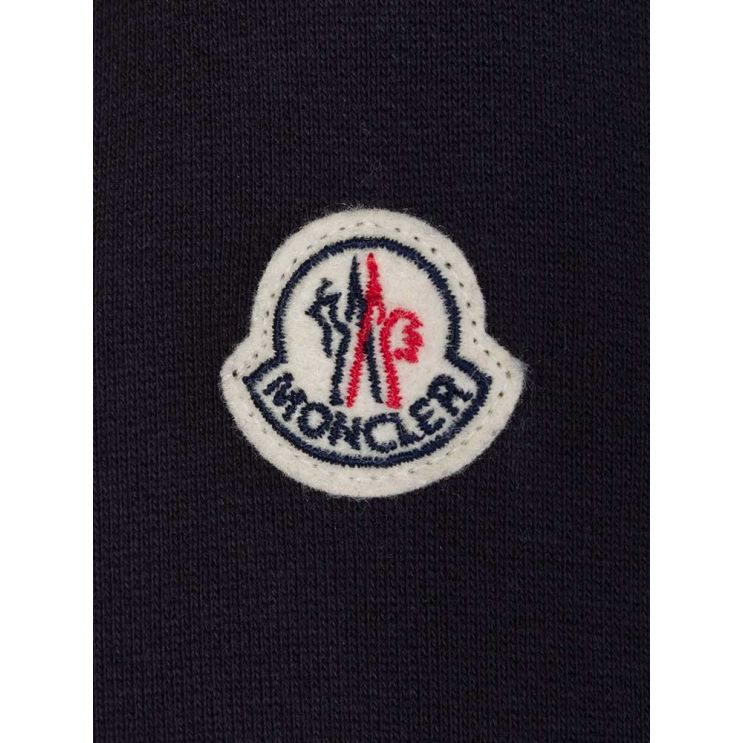Moncler Enfant Navy Nylon Panel Jacket