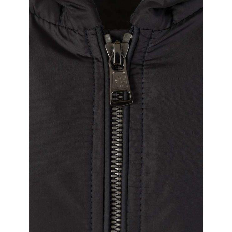Moncler Enfant Grey Nylon Panel Jacket