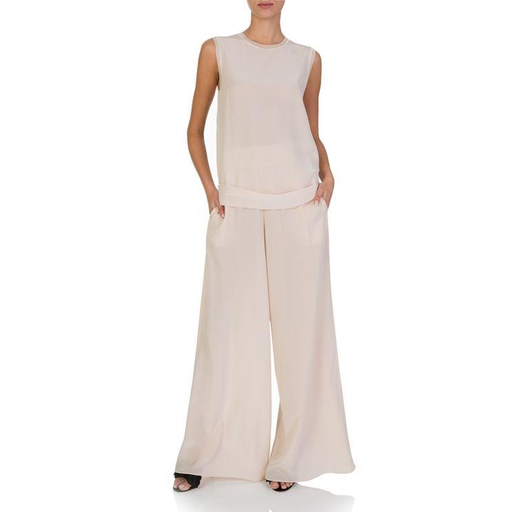 Joseph Pink Huland Silk Crepe De Chine Trousers