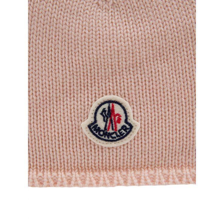 Moncler Enfant Pink Knit Beanie