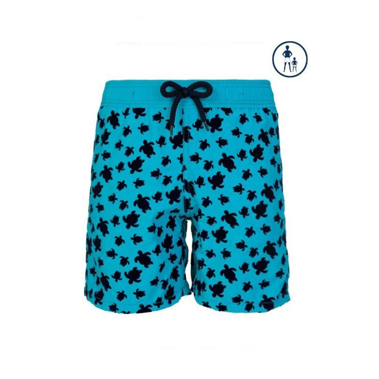 Vilebrequin Junior Turquoise Turtle Swim Shorts