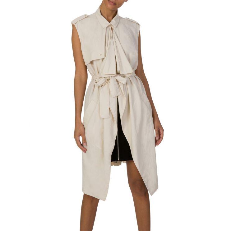Patrizia Pepe Moon Sand Gilet Maxi Dress
