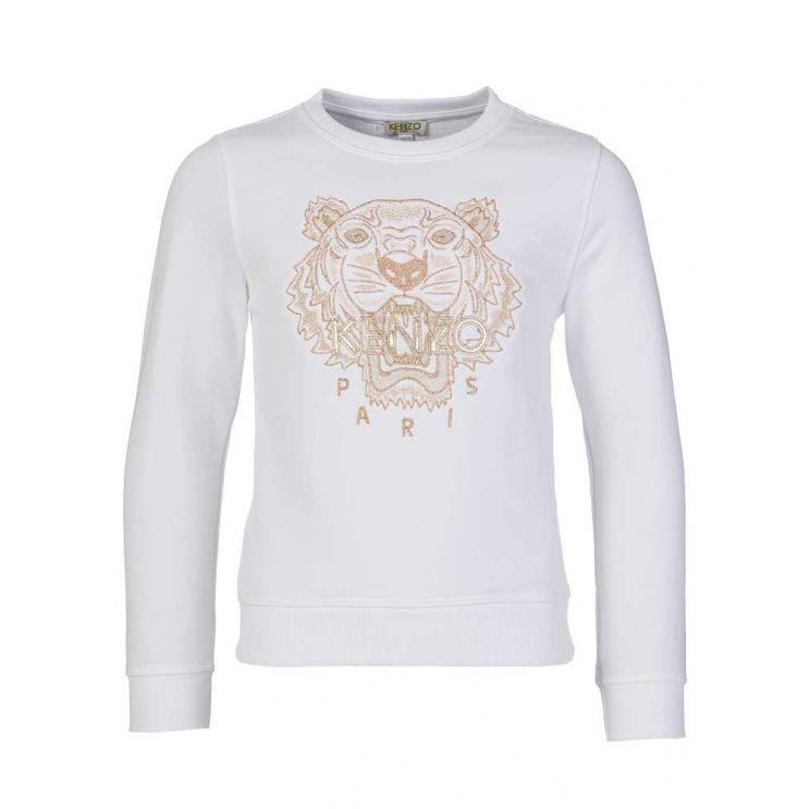 KENZO Kids White Embroidered Tiger Sweatshirt