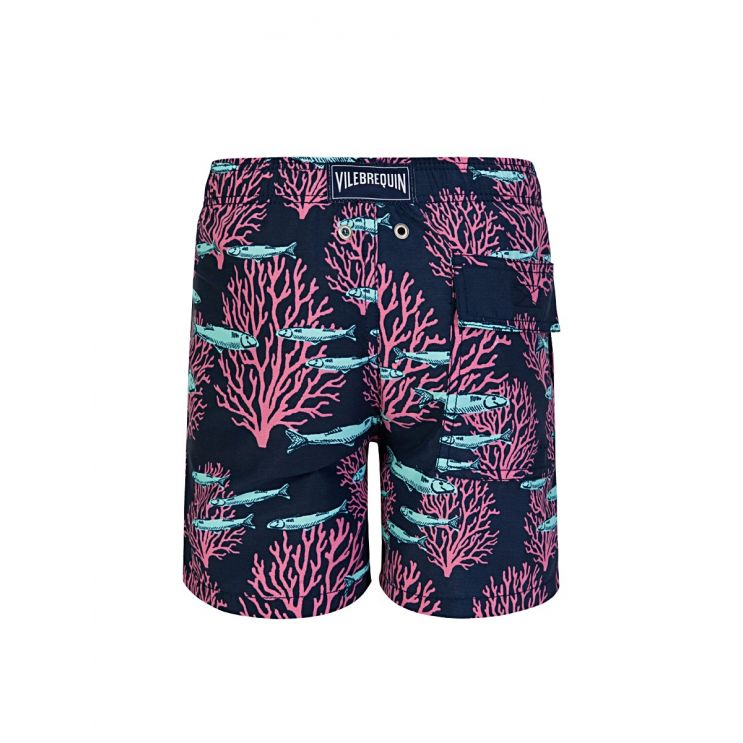 Vilebrequin Junior Blue Marine Print Swim Shorts