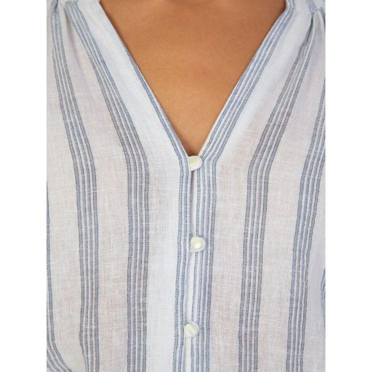 Rails White Blue Striped Shirt