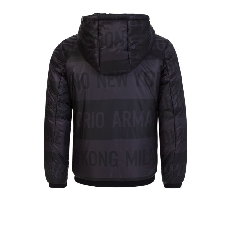 Emporio Armani Junior Black Reversible Hooded Jacket
