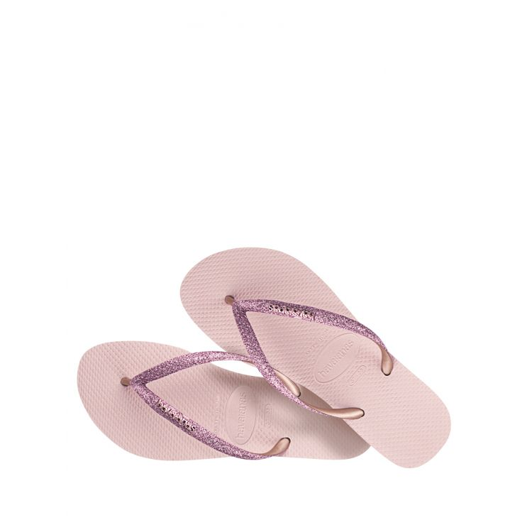Havaianas Pink Slim Glitter Flip Flops
