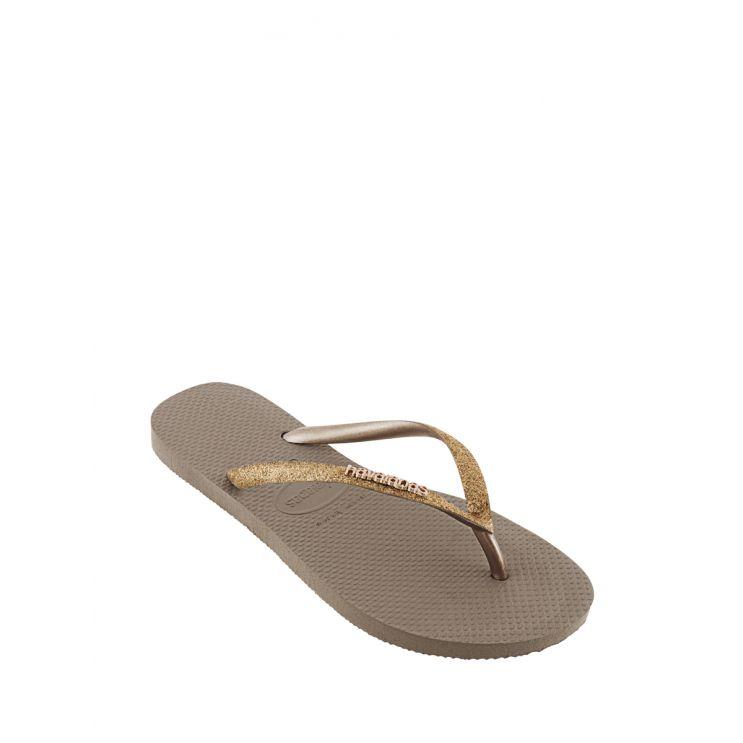 Havaianas Gold Slim Glitter Flip Flops