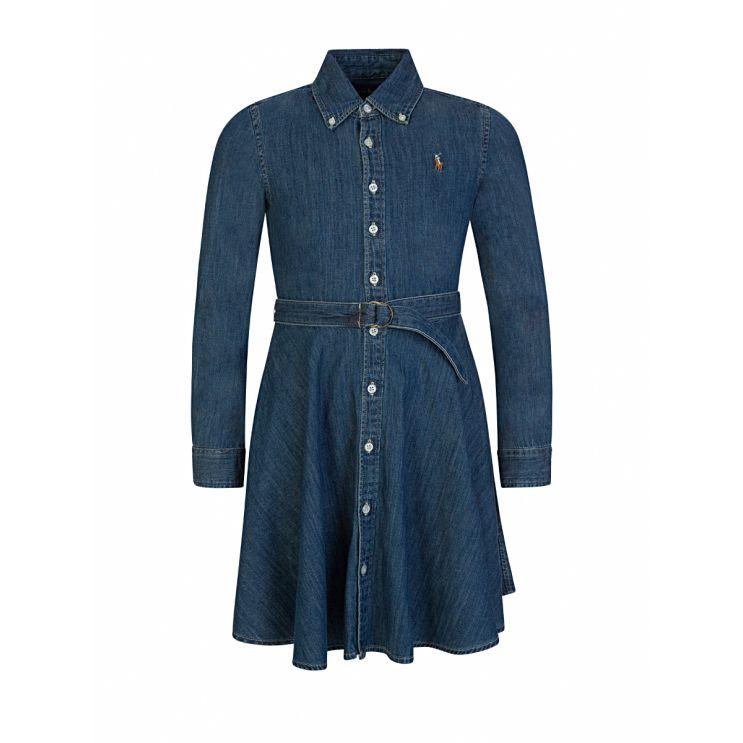 Polo Ralph Lauren Kids Blue Denim Shirt Dress
