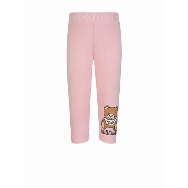 Moschino Kids Pink Moschino Bear Logo Sweatpants