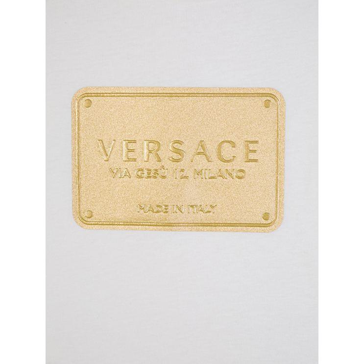 Versace White Logo Plate T-Shirt