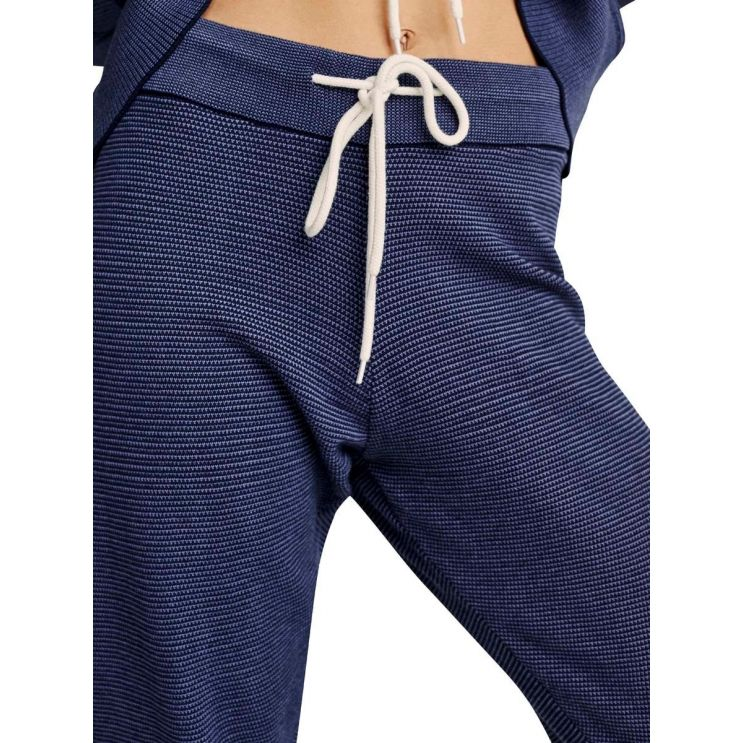 Varley Navy Pique Knit Alice Sweatpants 2.0