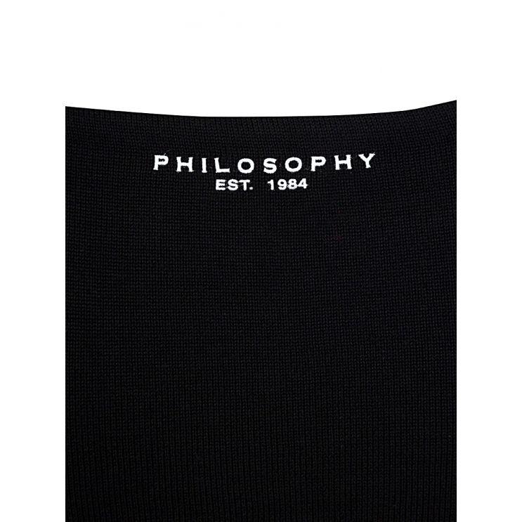 Philosophy Di Lorenzo Serafini Black Fine Rib Jumper