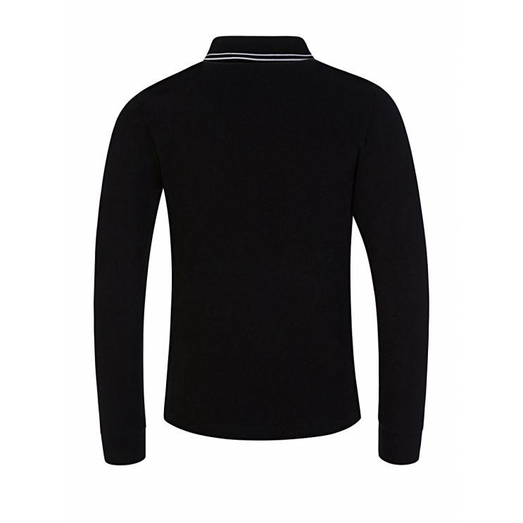 Stone Island Junior Black Long Sleeve Polo Shirt
