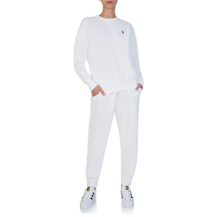 Polo Ralph Lauren White Fleece Sweatpants