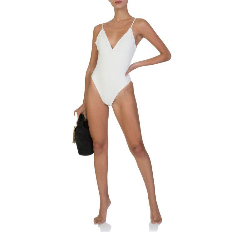 ViX Paula Hermanny White Scales Bella Swimsuit