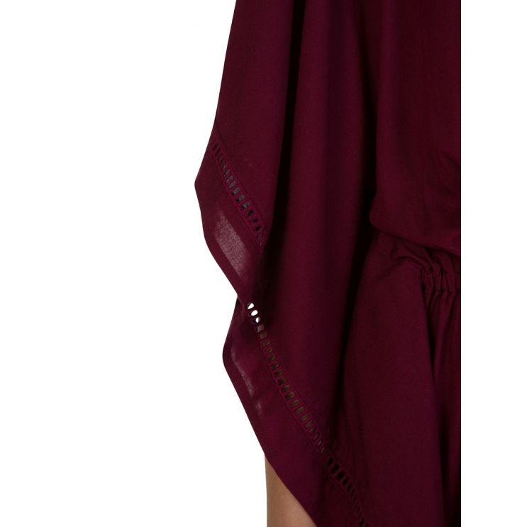 VIX Paula Hermanny Burgundy Embroidery Kimono