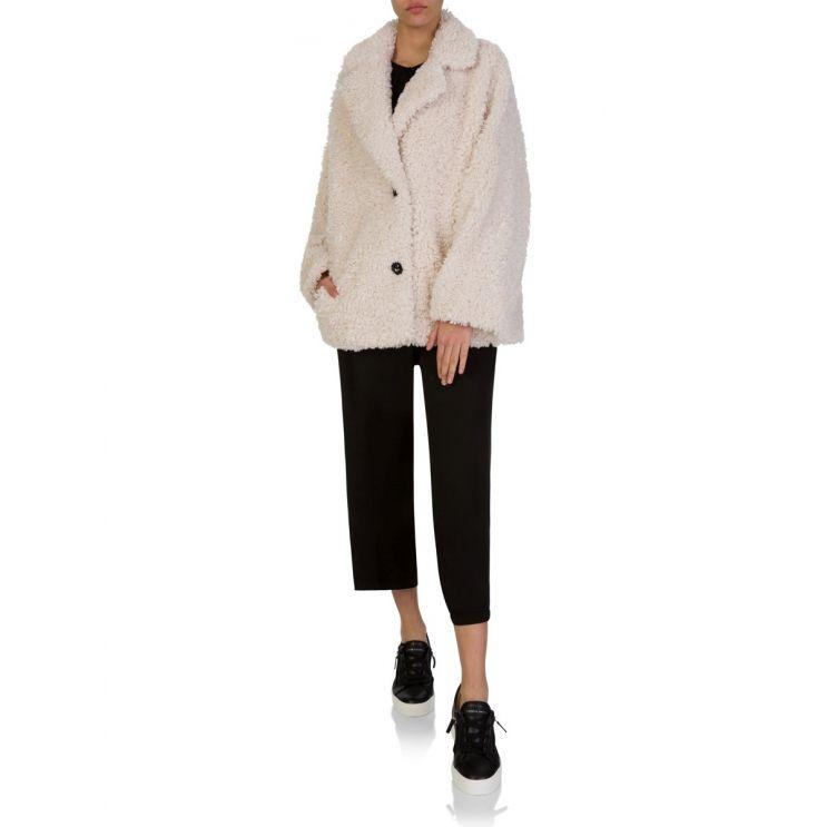 Stand Studio Cream Faux Fur Merilyn Jacket