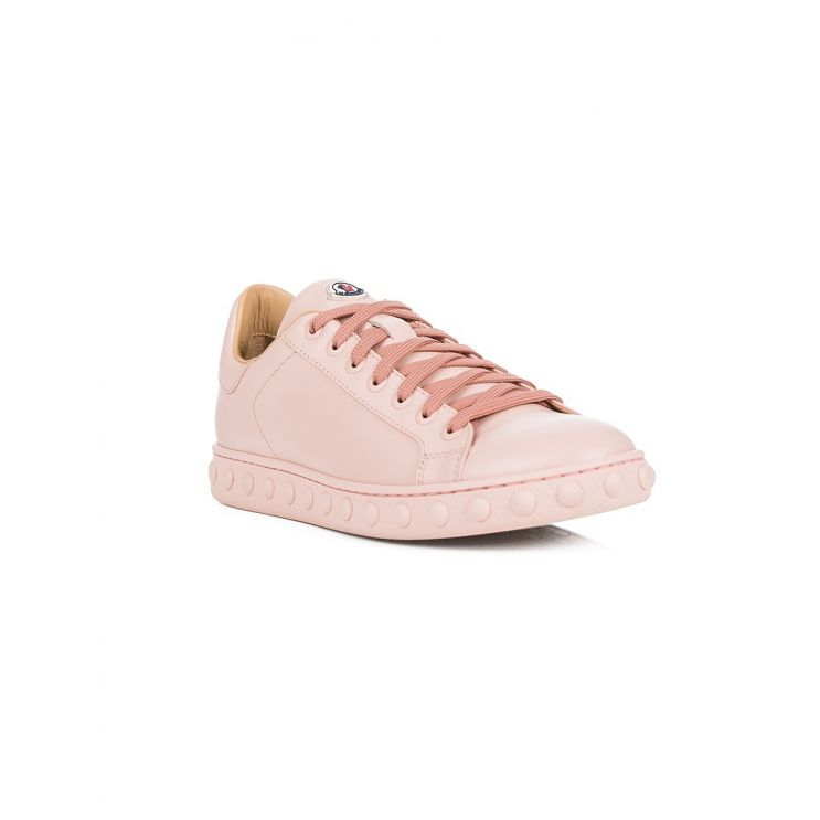Moncler Pink Leather Fifi Trainers