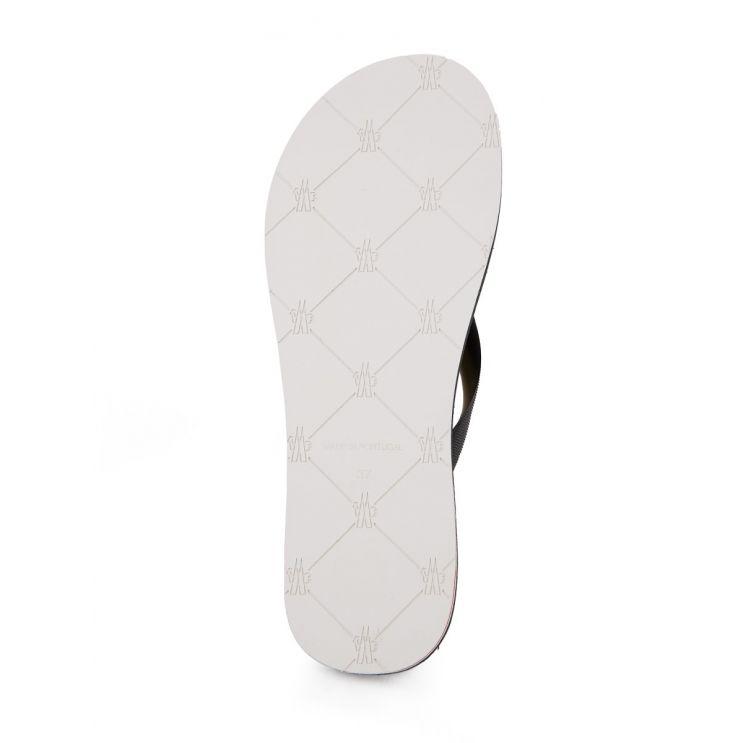 Moncler Black Flip Flop