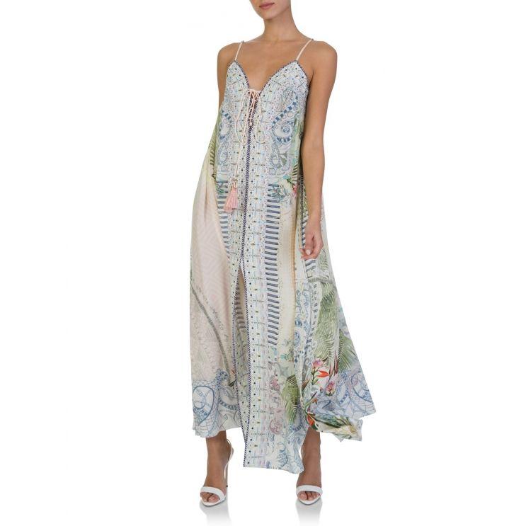 Camilla Beach Shack Lace Up Maxi Dress