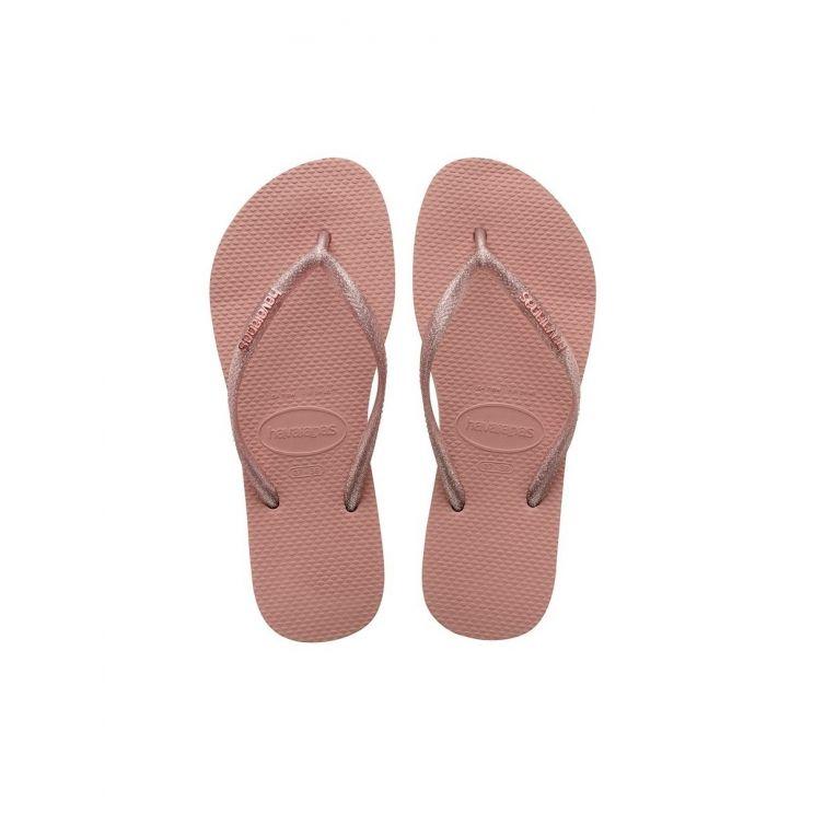 Havaianas Rose Glitter Slim Flip-Flops