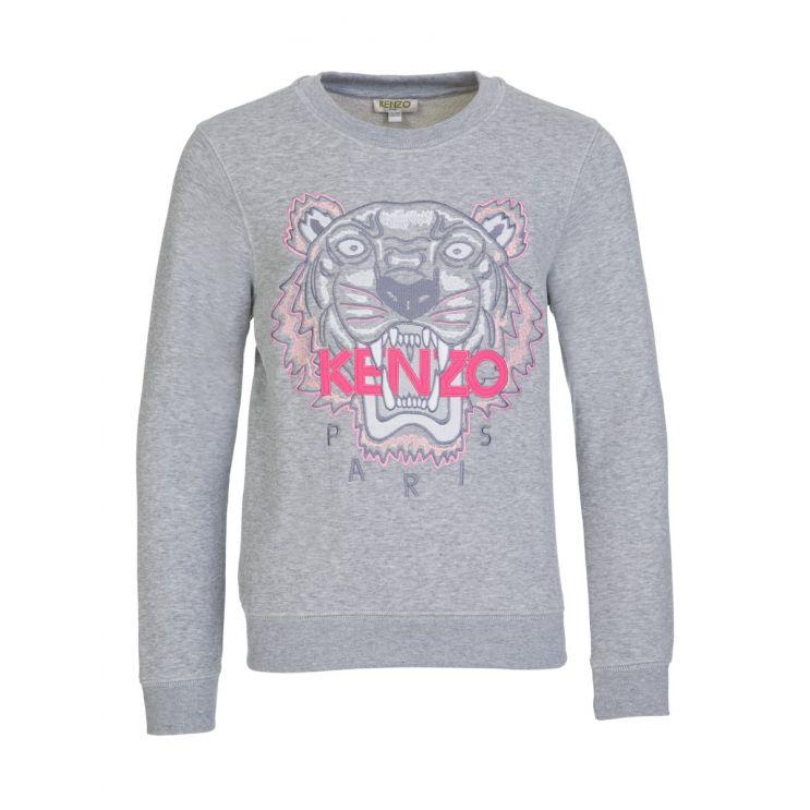 KENZO Kids Grey Tiger Motif Sweatshirt