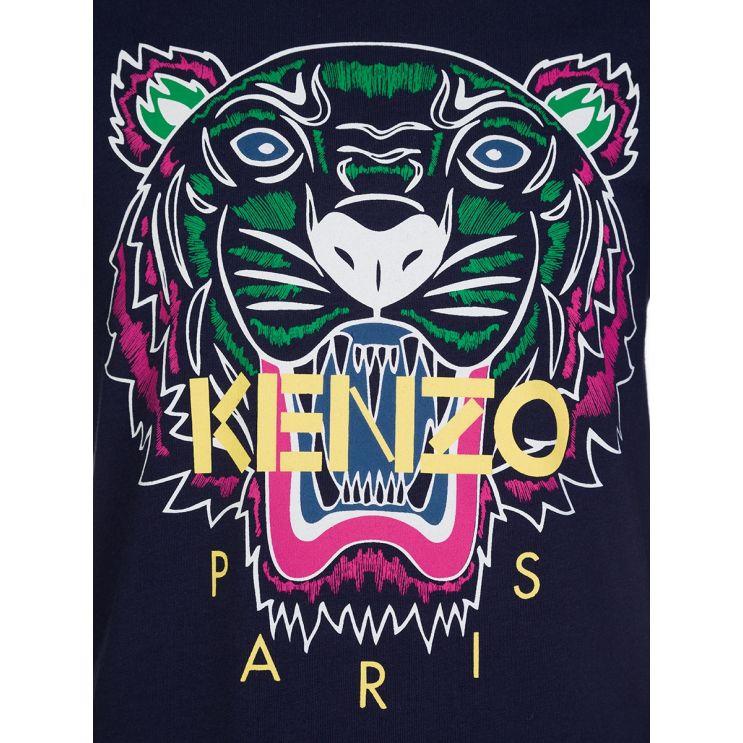 KENZO Kids Navy Tiger T-Shirt