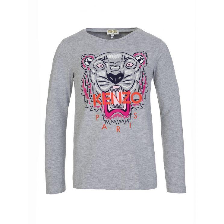 KENZO Kids Grey Tiger T-Shirt