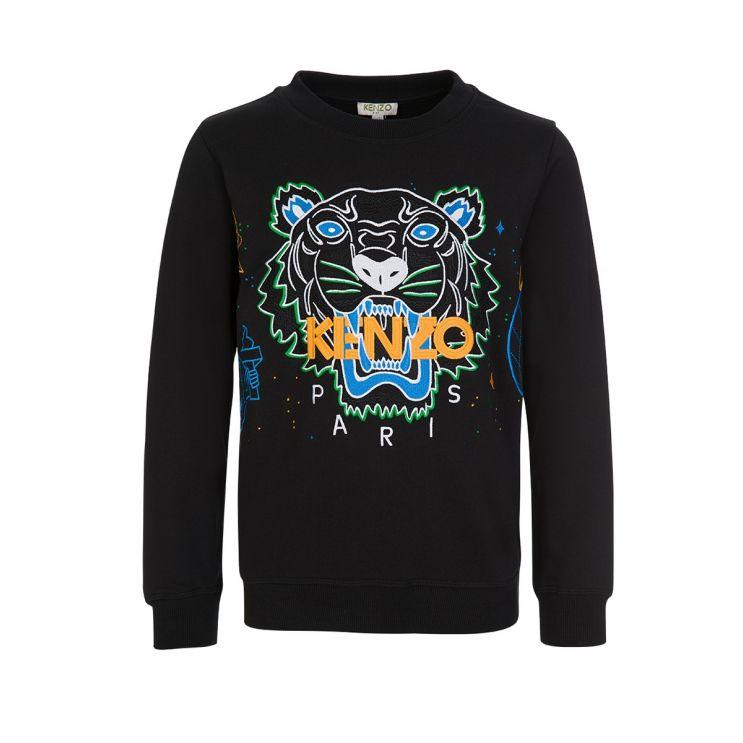 KENZO Kids Black Tiger Sweatshirt