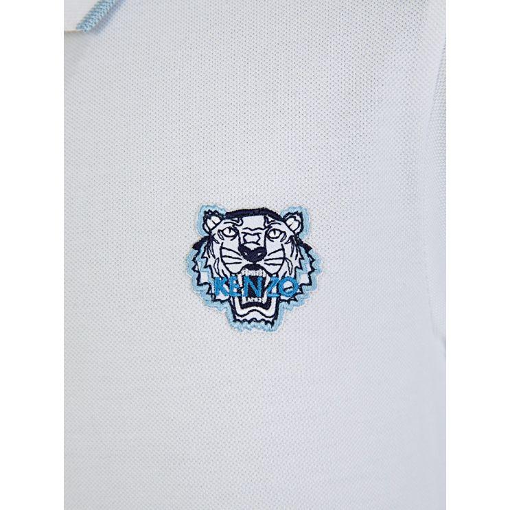 KENZO Kids White Tiger Polo Shirt