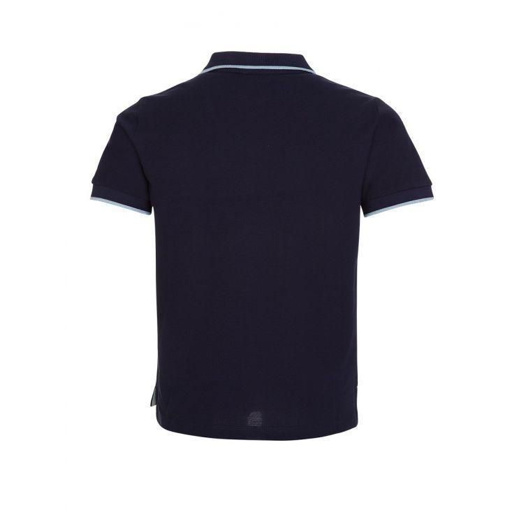 KENZO Kids Navy Tipped polo shirt