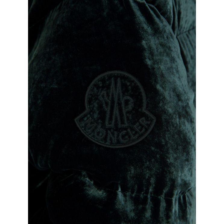 Moncler Green Velvet Down Butor Jacket