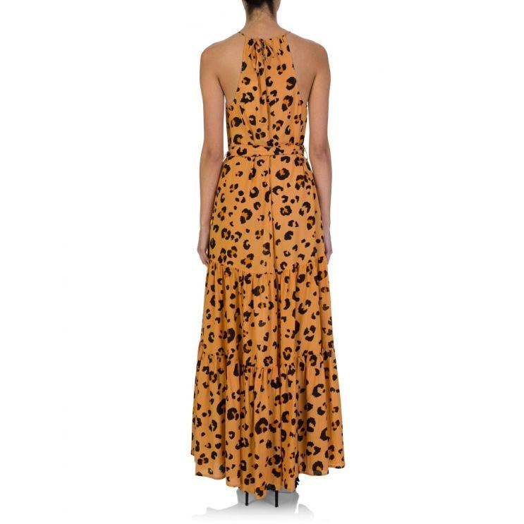 Tigerlily Orange Leilani Leopard Print Maxi Dress