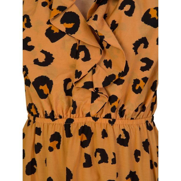 Tigerlily Orange Leilani Leopard Mini Dress