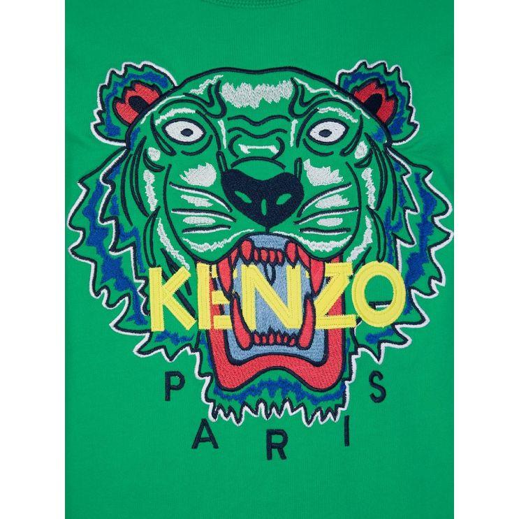 KENZO Kids Green Tiger Sweatshirt