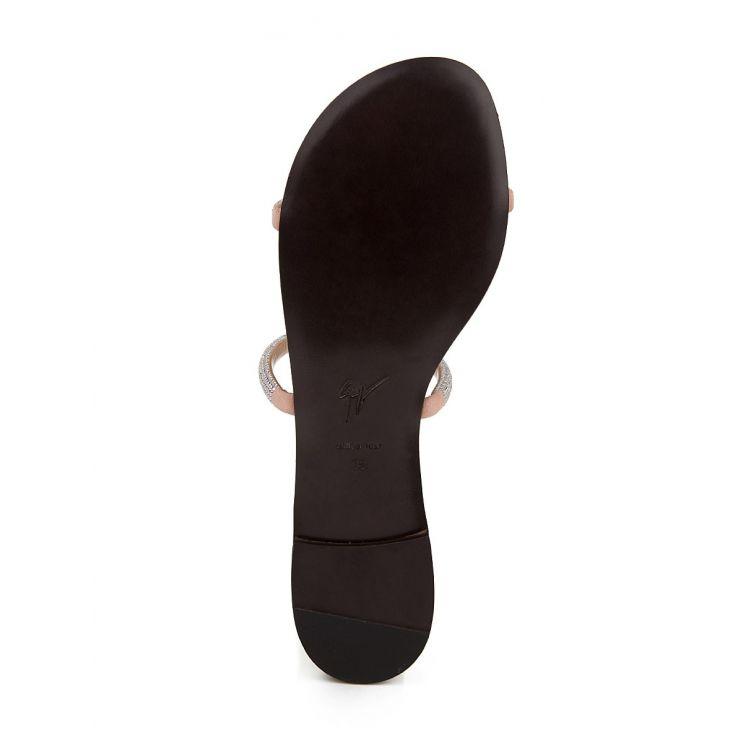 Giuseppe Zanotti Pink Croisette Crystal Sandals