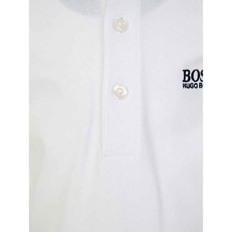 BOSS Kidswear White Short-Sleeve Polo Shirt