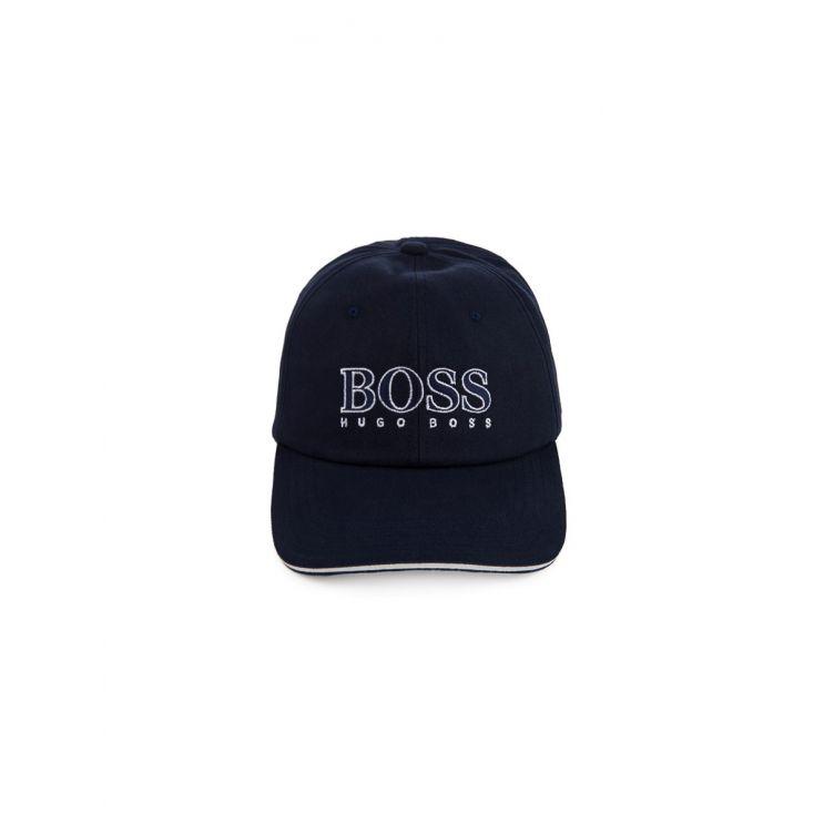 BOSS Kidswear Navy Logo Cap