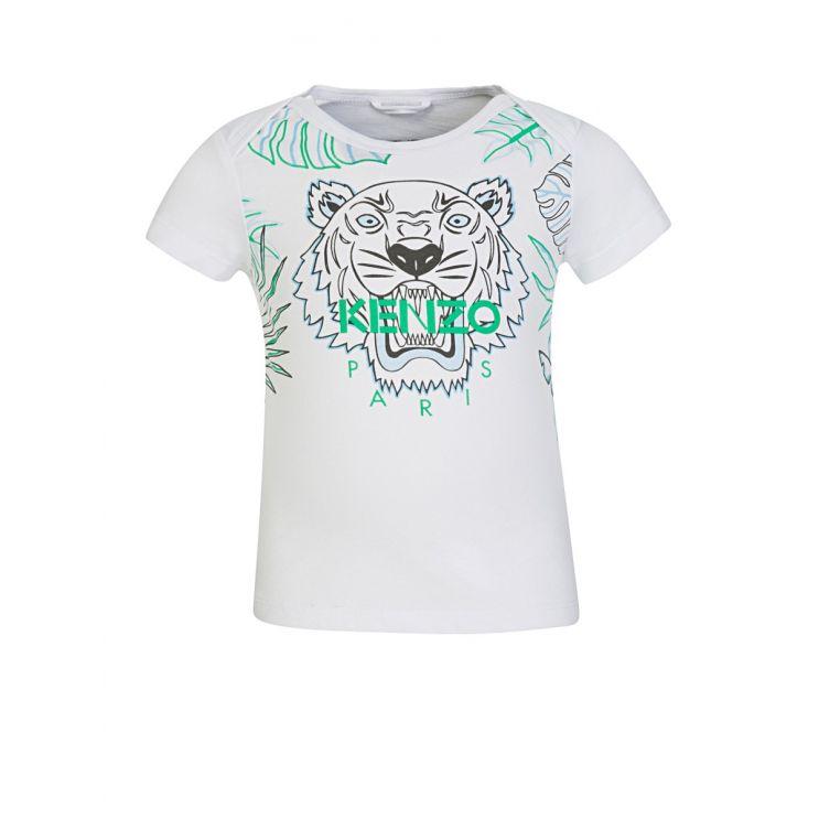 Baby KENZO Kids White Tiger Logo T-Shirt