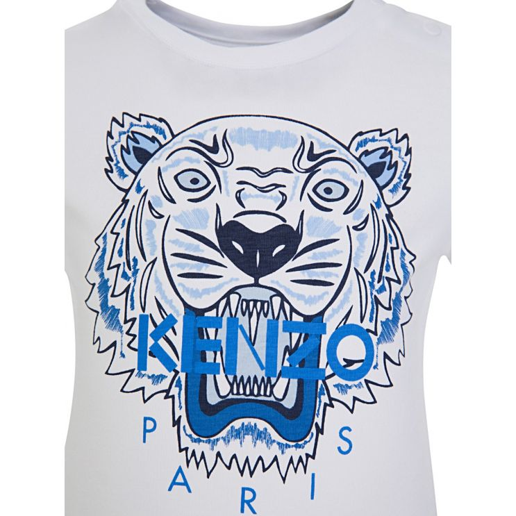 Baby KENZO Kids White Tiger T-Shirt