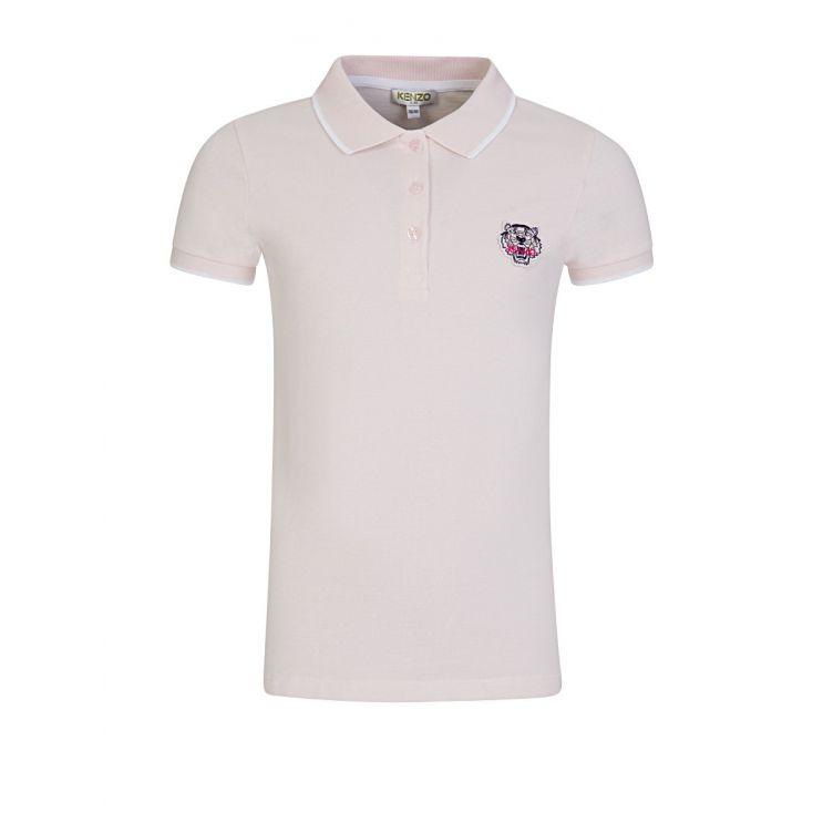 KENZO Kids Pink Cotton Logo Polo Shirt