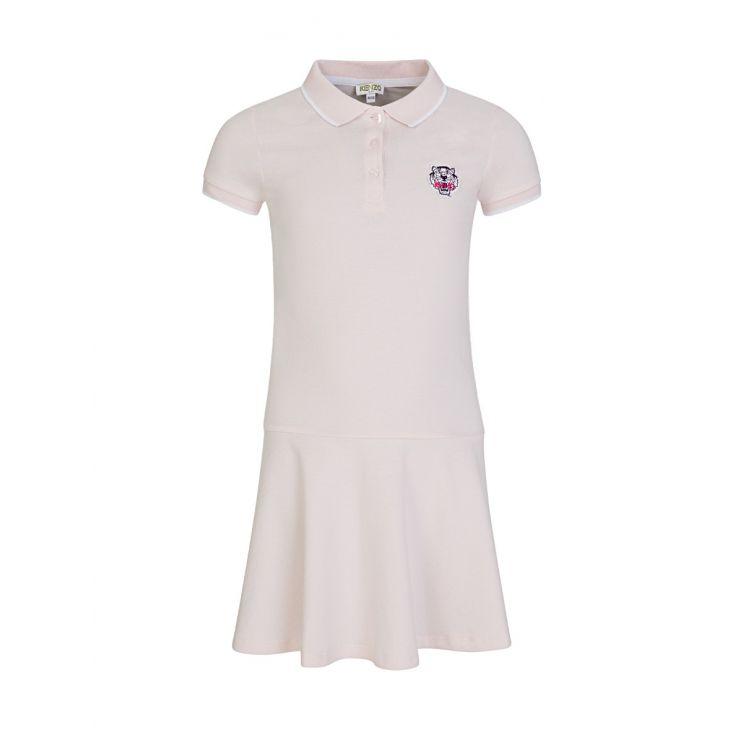 KENZO Kids Pink Tiger Polo Shirt Dress