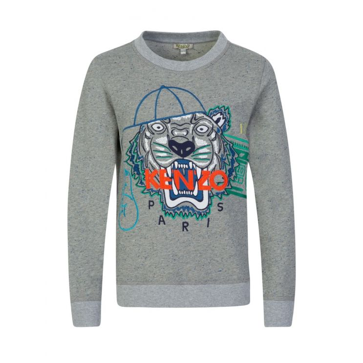 KENZO Kids Grey Tiger JB Sweatshirt