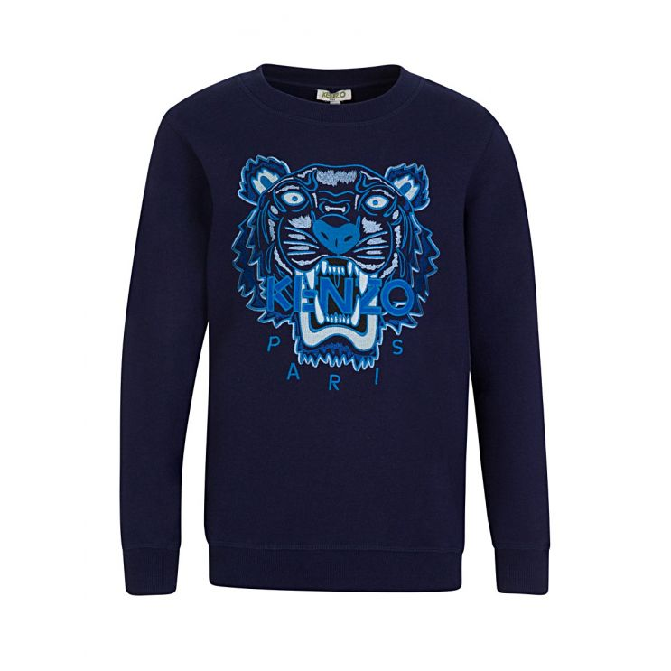 KENZO Kids Navy Tiger Head Sweatshirt