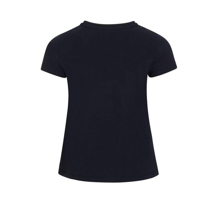 Moncler Enfant Navy Logo T-Shirt
