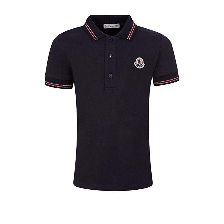 Moncler Enfant Navy Logo Polo Shirt