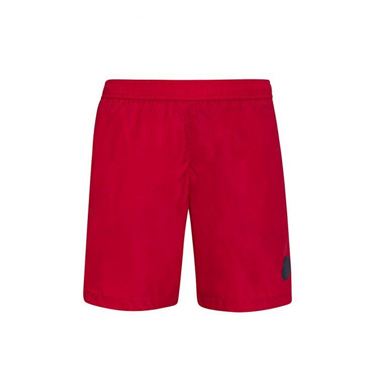 Moncler Enfant Red Logo Swim Shorts
