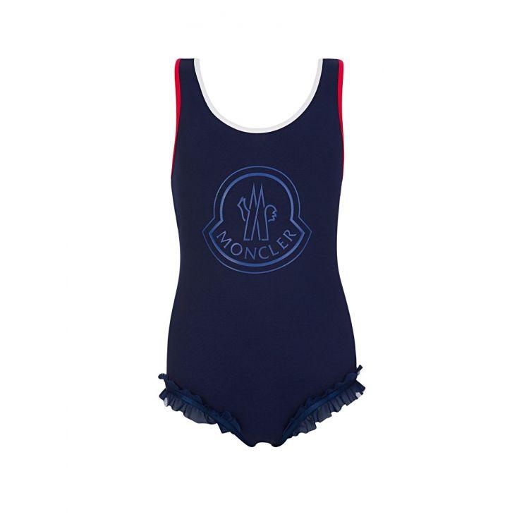 Moncler Enfant Navy Chest Logo Swimsuit